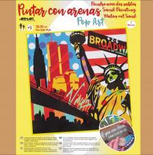 Pintar con arenas Nueva York Pop Art 38x38 cm