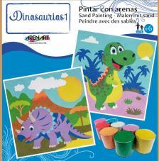 Pintar con arenas Dinosaurios 1