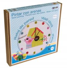 Pintar con arenas. Reloj Cu-Cut Ø30 cm