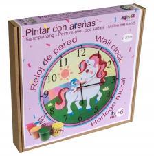 Pintar con arenas. Reloj Unicornio Ø30 cm