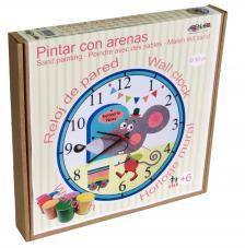Pintar con arenas. Reloj Ratoncito Pérez Ø30 cm