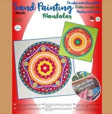 Pintar con arenas 2 Mandalas 38x38 cm. Modelo 11