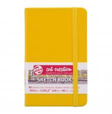 Cuaderno boceto tapa dura cosida Amarillo Pastel Art Creation 80 hojas 140 g/m2. 9X14 cm