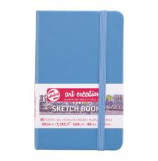 Cuaderno boceto tapa dura cosida Azul Pastel Art Creation 80 hojas 140 g/m2. 9x14 cm