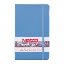 Cuaderno boceto tapa dura cosida Azul Pastel Art Creation 80 hojas 140 g/m2. 13x21 cm