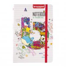 Cuaderno notas tapa dura cosida Bruynzeel 80 hojas CON RAYAS 140 g/m2. 14,5x21 cm