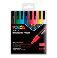 Posca PC-3M - 8 Colores Estuche Básico. 0,9-1,3 mm