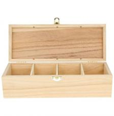 Caja madera organizadora té 8x27x10 cm