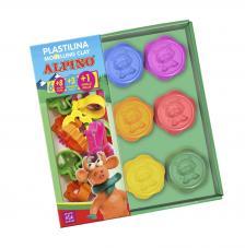 Kit plastilina Alpino 6 colores 30gr. + 8 moldes