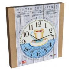 Set Pinta Reloj Pared con arenas. Café Au Lait