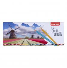 Estuche metal 45 lápices de colores. Holanda