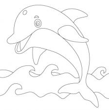 Delfín. 20x20 cm Precortado