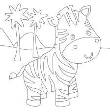 Zebra. 20x20 cm Precortado