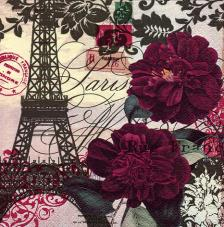20 servilletas. Torre Eiffel Violeta