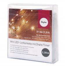 Mini cadena luces LED blanco 220 cm