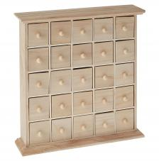 Muebles artemio 25 cajones de madera 32,5x32,5x8 cm