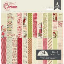 24 papeles 30,5 x 30,5 cm. Classic Christmas