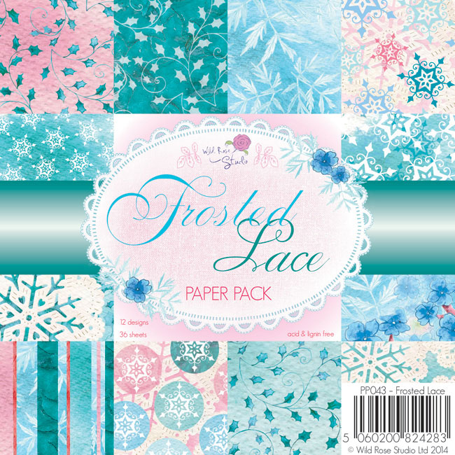 36 papeles 15,5x15,5 cm - Frosted Lace