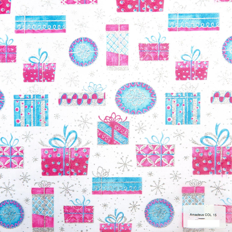 Tissu Amadeus 15 roll 30cmx5m - Blue and pink