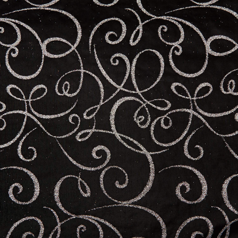 Tissu Michel Angel 12 roll 30cmx5m - black and silber