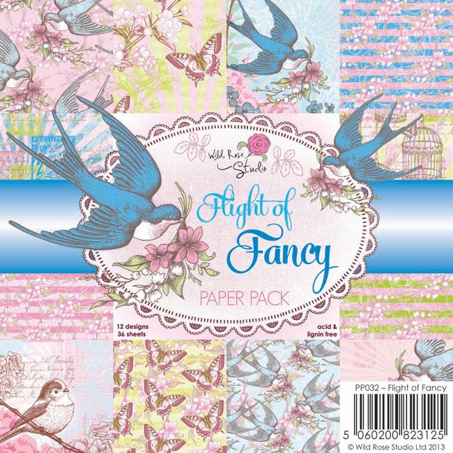36 papeles 15,5x15,5 cm. Flight of Fancy
