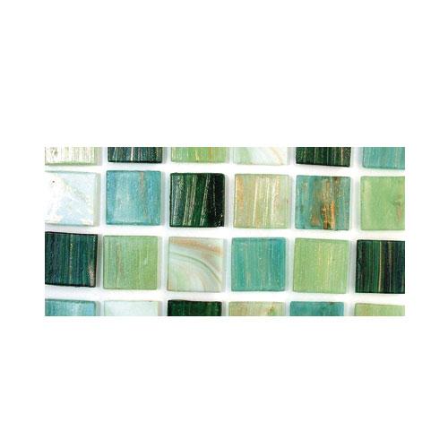 Teselas resina Deluxe tonos verdes 2x2cm.160 pzas