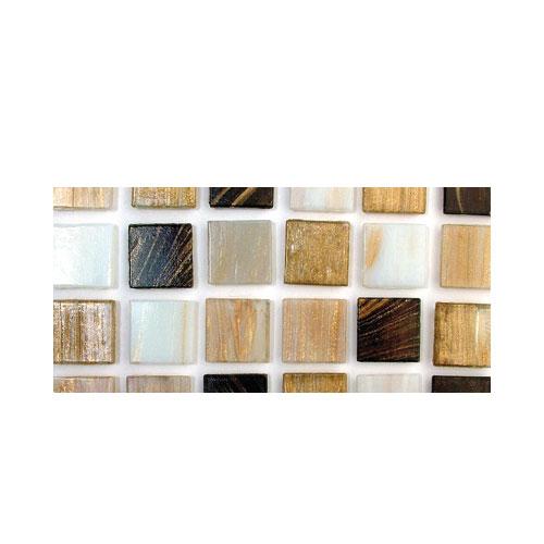 Teselas resina Deluxe tonos marrón 2x2cm.160 pzas