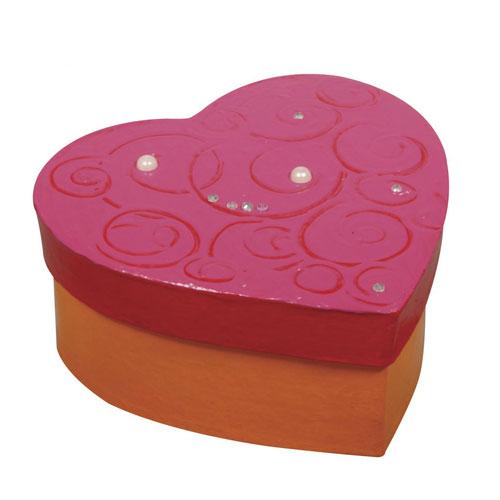 Caja corazon de carton 9x9x3,5 cm