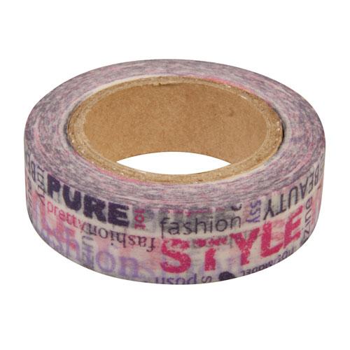 Washi Tape Fashion 15mm rollo 15m