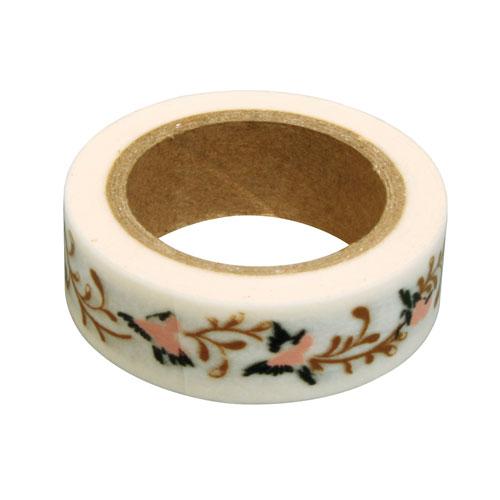 Washi Tape Flores 15mm rollo 15m