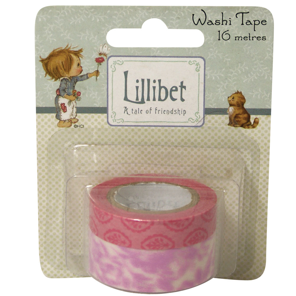 2 Washi Tape Lilibet rosa 10+15mm 8m