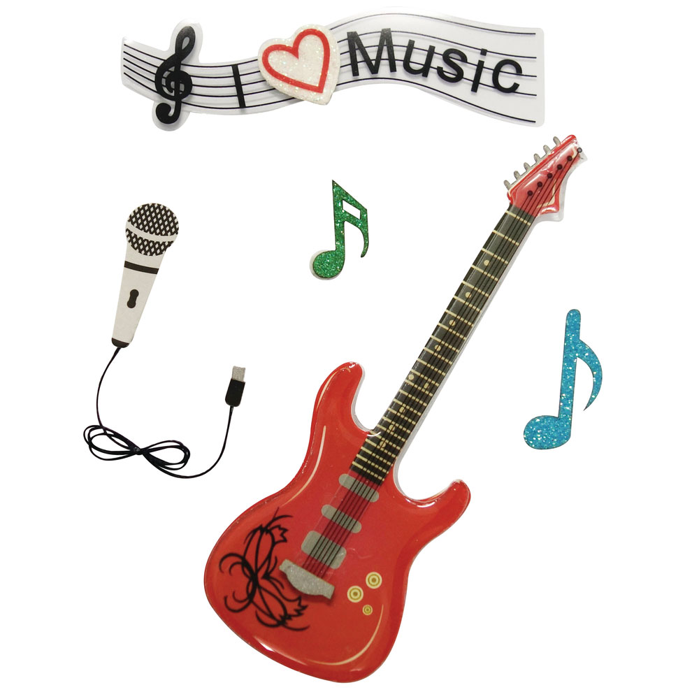 5 Deco stickers Musica