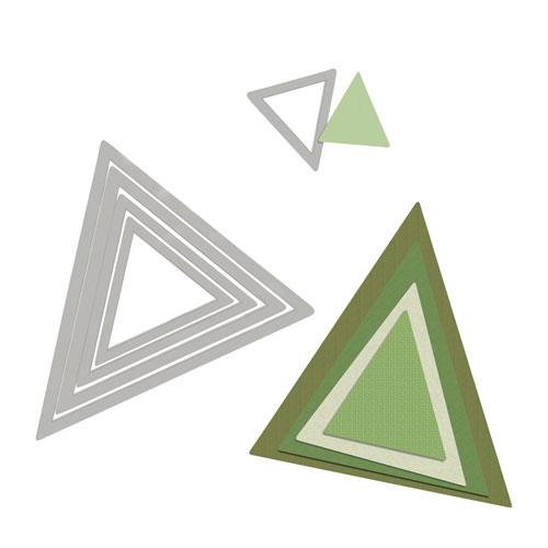 Troquel Framelit Sizzix. 5 triangulos