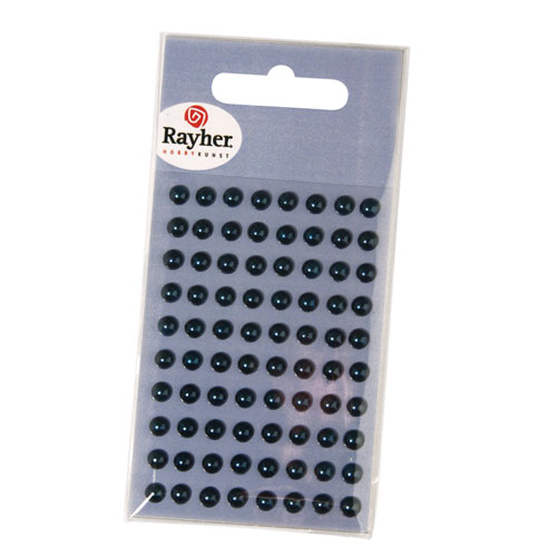 80 semi-perlas adhesives 5 mm