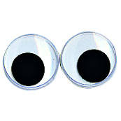 Set 10 ojos redondos. 4 medidas