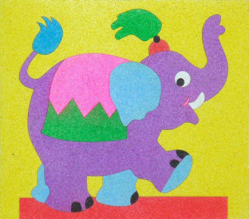 Elefantet. 20x20 cm Pre-tallat