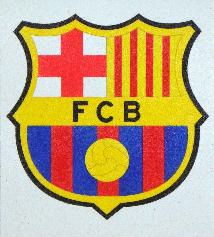 FC.Barcelona. 20x18 cm Precortado