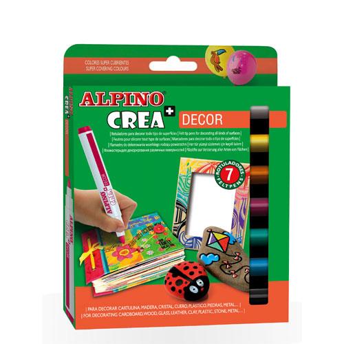 Kit 7 rotuladores Crea Decor