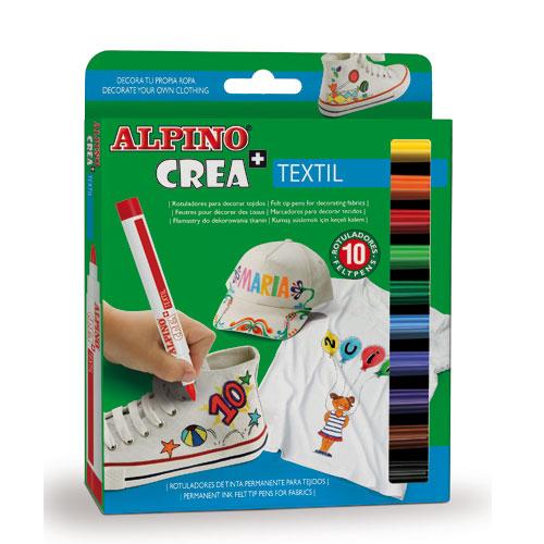 Kit 10 rotuladores Crea Textil