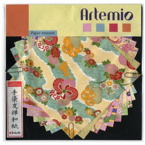10 fulles paper japones 15x15 cm. Grocs