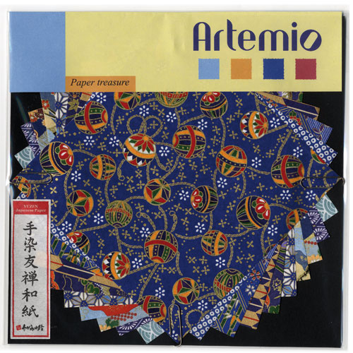 10 fulles paper japones 15x15 cm. Blaves