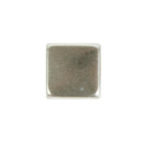 Blister 45 pzas. Cuadrado metal plata 8 mm