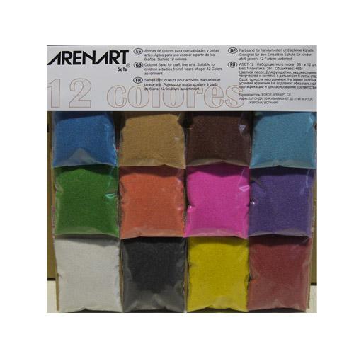 Set 12 colors sorres assortiment