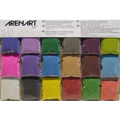 Set 18 colores arena surtido