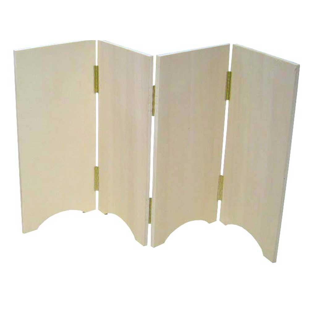 Biombo de madera liso. Dos formatos: cerrado o zig-zag