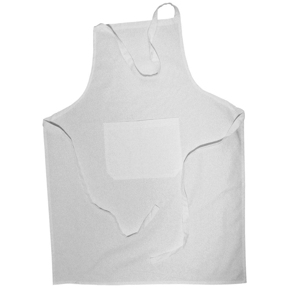 Delantal de algodón blanco 70x95 cm