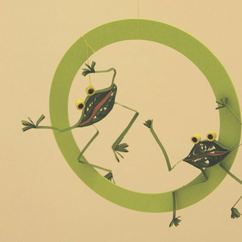 Quilling kit: Funny frog