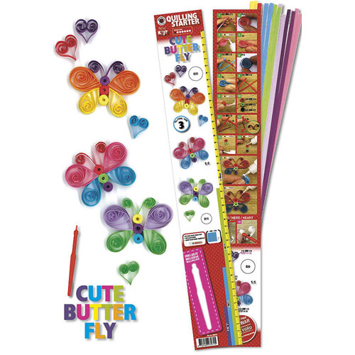 Quilling kit: Butterflies and hearts