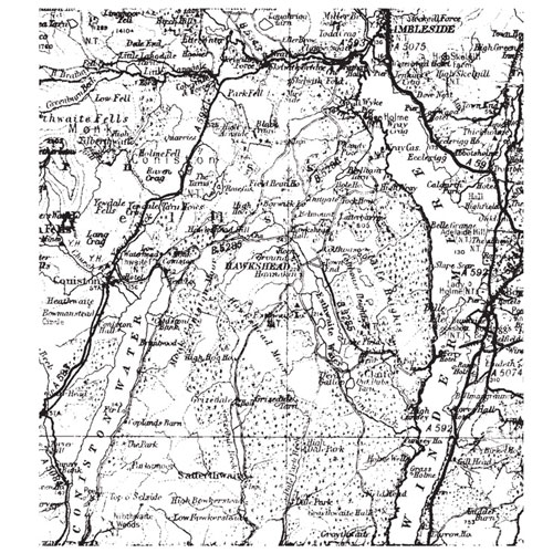 Sello de caucho A6 Mapa