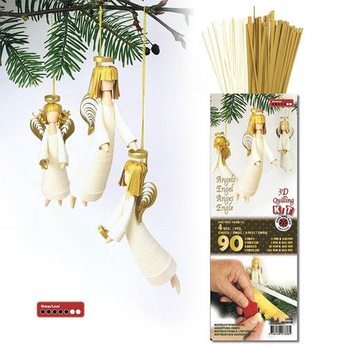 kit quilling Angel 3D blanc i daurat